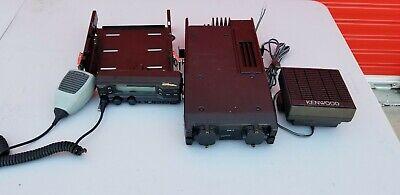Kenwood Tk690h Vhf Fm 110w Radio Transceiver  Control Head Speaker Mic Tray