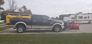Dodge Ram plow truck and salter