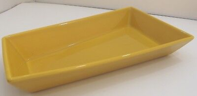Arabia Finland Ceramic Serving Dish Bowl ABC Design Yellow