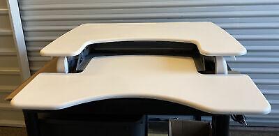 Varidesk Pro Plus 36 Inch Adjustable Standing Desk - White Table Top Officehome