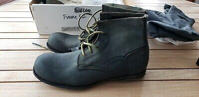 CARPE DIEM Reverse Leather Lace-Up Boots 43 Cordovan frame 52 boots from 2000's