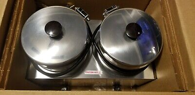 Brand New Server Twin Soup Sauce Warmer 4qt Twin Fs-4 81200 Commercial 90j99a