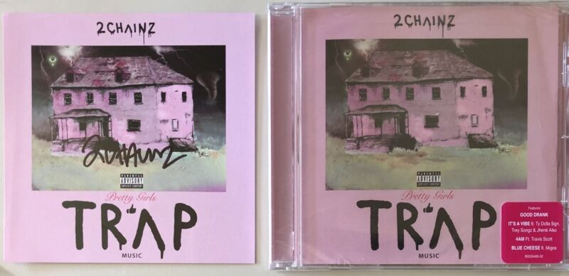 2 Chainz Rapper Signed CD Booklet With CD Pretty Girls Like Trap Music Autograph