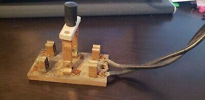 Vintage Industrial Electric Knife Switch Frankenstein Steampunk Copper