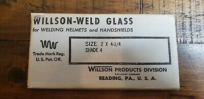 2 Vintage New Old Stock Willson-weld Glass Welding Lenses Shade 10 And 4