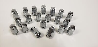 20 Pack Lug Nuts Polished Chrome Steel 1/2 Inch Acorn Style Trailer Wheel Rims