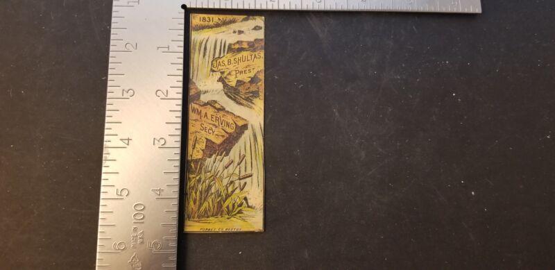 1831 Hartford Co. Mutal Fire Insurance Victorian Trade Card Jas B Shultas Prest
