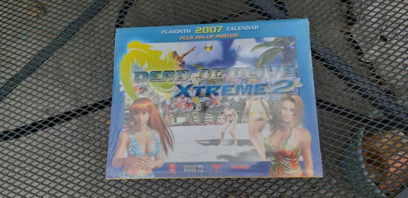 Dead or Alive Xtreme 2 Calender NEW with Pin Up Poster Never opened 2007