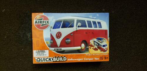 Vw Camper Van >> Airfix Quick Build Red Volkswagen Vw Camper Van Pl In Toys