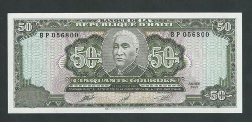 HAITI  50 GOURDES 1991  P- 257  UNC