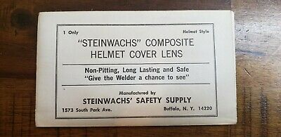 Steinwachs Composite Helmet Cover Welding Lens.vintage New.