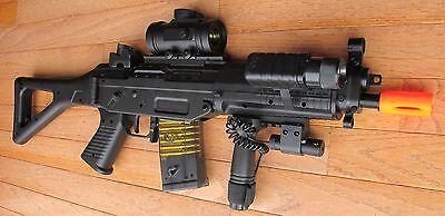 DE M82P SIG 552 Auto Electric Airsoft Gun W/Laser, Crosshair Scope, Flashlight for sale  Troy