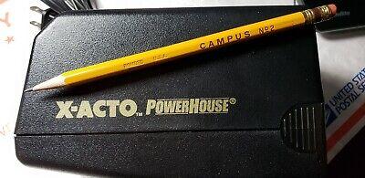 X-Acto Black Powerhouse Electric Pencil Sharpener Elmers Model 17XXX 19XXX, used for sale  Waukegan