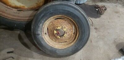 Massey Harris 44 Tractor Front Rim And Tire 600x16.tri Rib 33 44s Coop Tire