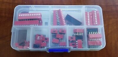 Double Row Dip Switch Assorted Kit Box 35 Pcs 2.54mm Pcb Shipped Usps Priority