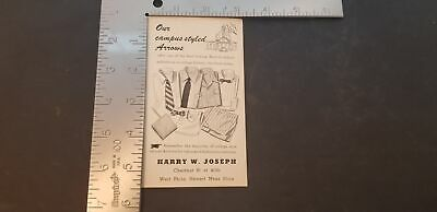 1940s Men's Shirts, Sweaters, Vests 1940s Harry W Joseph Mens Store Arrow Shirts Back To School Ink Blotter EUC $29.92 AT vintagedancer.com