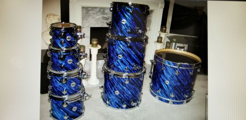 Drum Workshop Collectors Series Special construction Twisted Blue Onyx 8 Piece