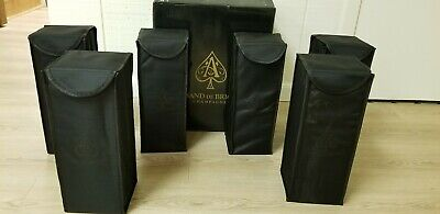 ACE OF SPADES BRUT BOX (ARMAND DE BRIGNAC) 6 750ML GOLD EMPTY CHAMPAGNE BOTTLES