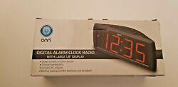 ONN Digital AM/FM Clock Radio Alarms with Snooze Wake up to Radio or Alarm