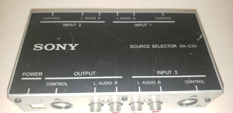 Sony XA-C30 Source Selector ONLY NO CABLES UNTESTED