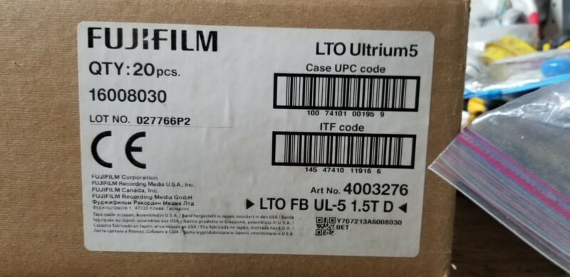 Fujifilm, LTO-5 Data Tape Media, P/N 16008030 (5 PC)