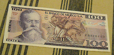 Mexican Z Pesos Paper Money Banknote