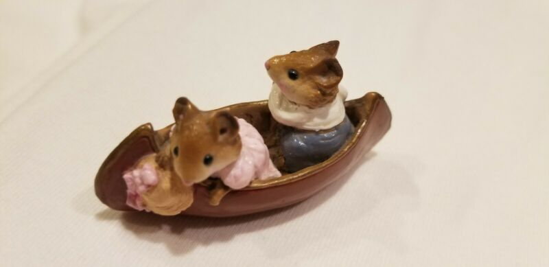 Wee Forest Folk Retired  Two in a Canoe