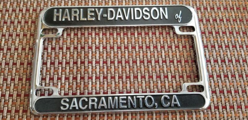SACRAMENTO Harley Davidson California Motorcycle License Plate Frame UNUSED