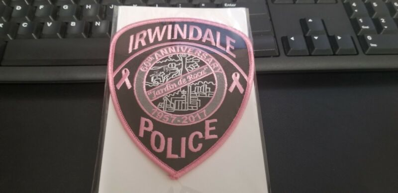 Irwindale #2 California Police Patch PINK Breast Cancer Awareness