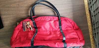 Beyonce Red Large Gift Perfume Tote Handbag Zippered Duffel 20x11x6 -