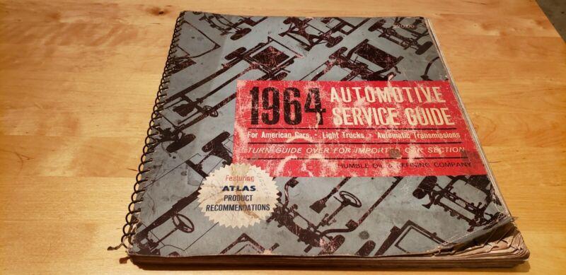 VINTAGE 1964 Automotive Service Guide For Domestic & Imports  Esso Humble Atlas