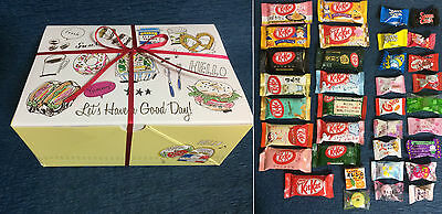 35pc Japanese Sweets Gift Box Set ( 15 Kit Kat + 20 Candy ) KitKat Snacks Japan