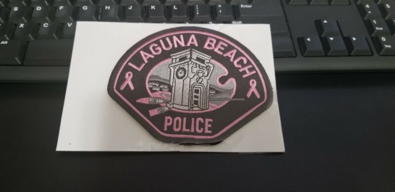 Laguna Beach California Police Patch PINK Breast Cancer Awareness
