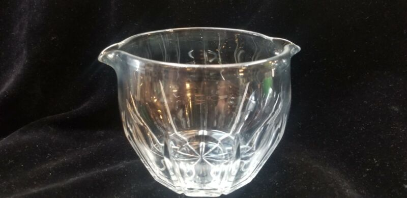 Antique Cut Glass Crystal Double Spout Wine Rinser