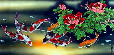 Fish oriental illustration 3 X 6 Inches Ceramic Wall Tile #003