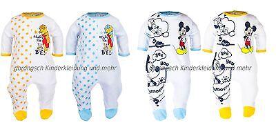 Disney Baby Winnie Pooh / Mickey Mouse Velour Strampler Schlafanzug  62 -86