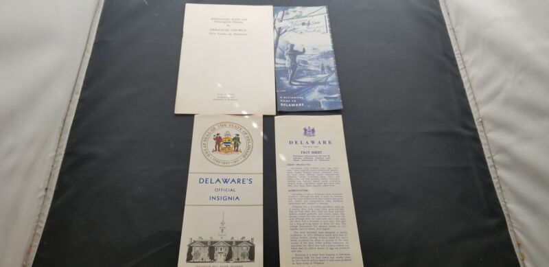 Lot Of 4 Travel Brochures For The State Of Delaware Historic Locations & More