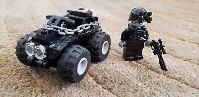 Custom Winter Commando ATV-Navy seals gun army snow weapons minifig swat