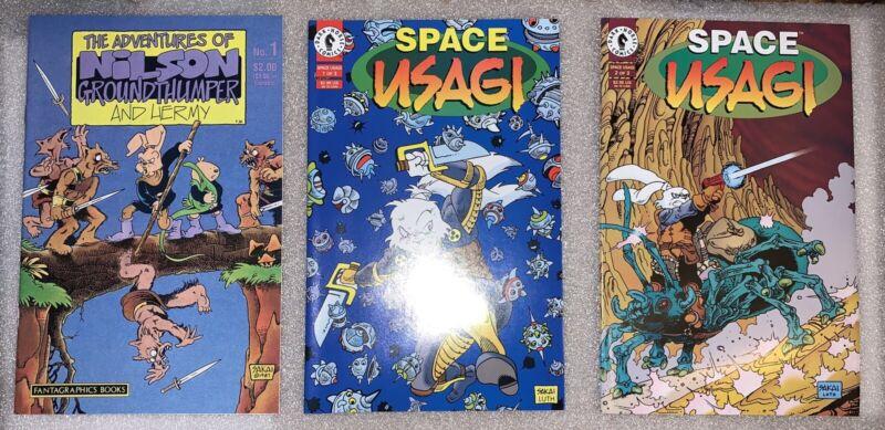 Space Usagi #1-3 + Nilson Grounthumper High Grade Vintage Stan Sakai Comics