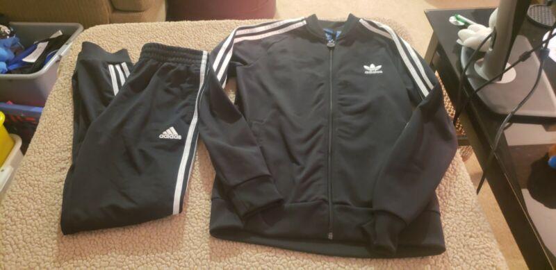Youth Size 14 Adidas Black Jacket And Pants