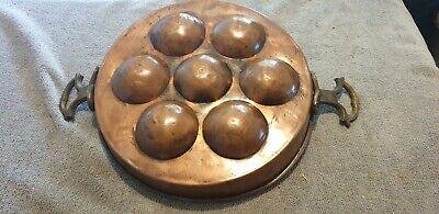 Copper- Egg Pan, Snail Pan Copper, Copper, Handmade Antique