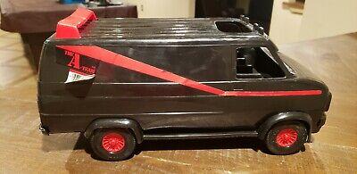 "Vintage 1983 The A-Team B.A. Baracus Mr T Van 15"" Plastic ERTL Black GMC Vandura"