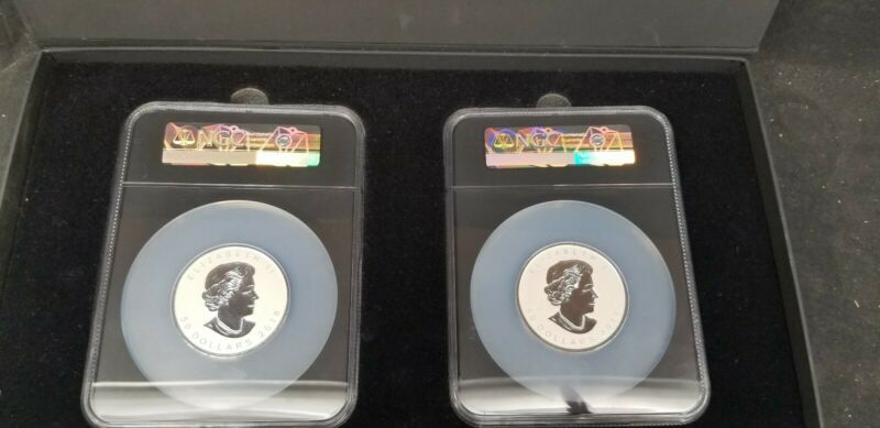 .999 2018 Canada $50 3 oz Silver Maple Leaf 1st Releases PF 69 Reverse Proof SET