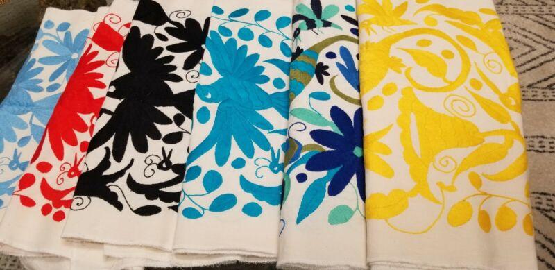Gorgeous Tenango Otomi Embroided Textile *VARIOUS COLORS 73 X 16 Inches