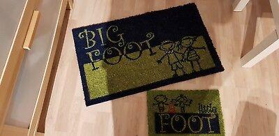 Fussmatten Set Kokos Big/ Little Foot groß u. klein unben.TCM Schmutzfangmatten