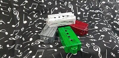 Custom P Bass pickup covers w/wood graphics,fits fender