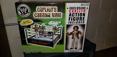 JAKKS WWE CARLITOS CABANA RING AND WRESTLING FIGURE WWF EXCLUSIVE BOX SET LOT