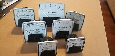 Lot General Electric Panel Meters D-c Amperes Millamperes Micriamperes A-c Volts