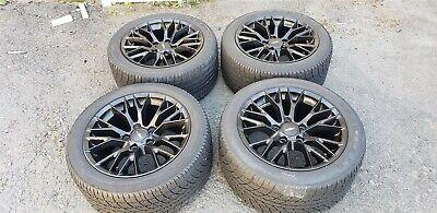 Corvette C4 BLACK 20 Spoke Wheels 17x9 with OEM GOODYEAR EAGLE GT Vintage Tires  for sale  Bristol