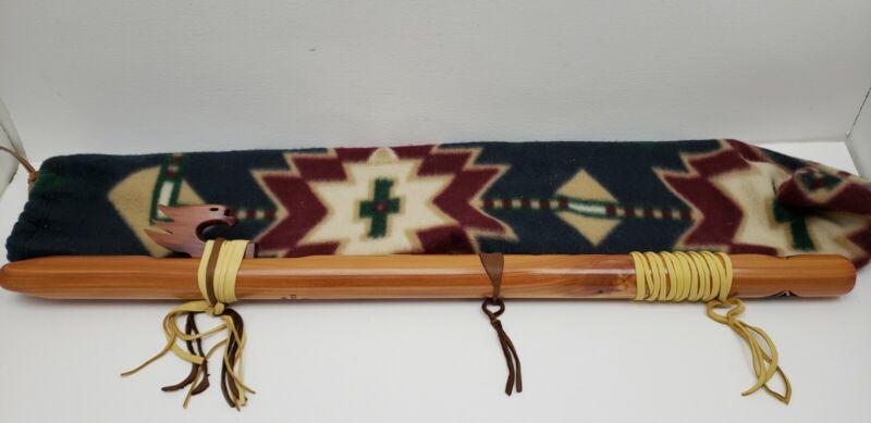 """High Spirits Wood Wooden Flute F# Eagle Star 25"""" Walnut or Cedar 25"""" w Soft Bag"""